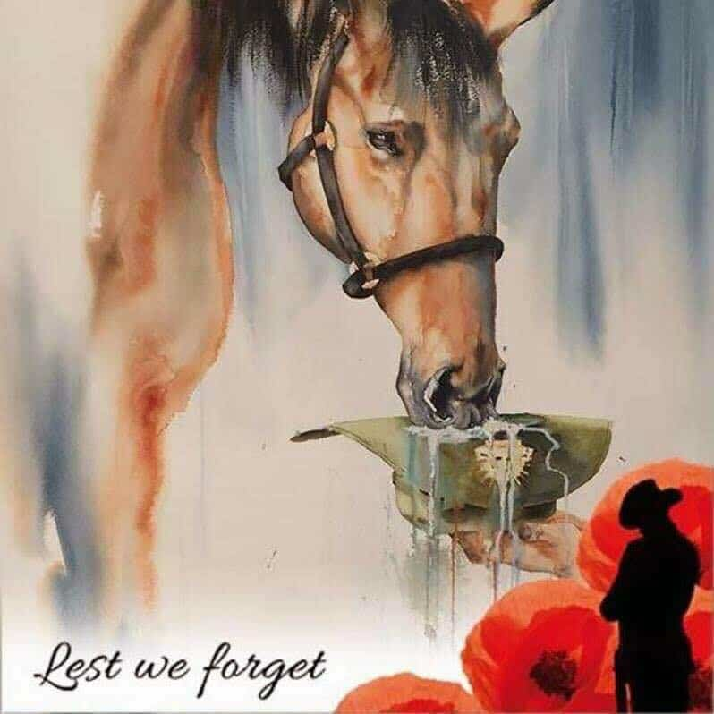 Horse and anzac day