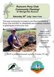 Runcorn Community Planting @ Runcorn Pony Club