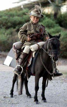 Boy on Pony Anzac Day
